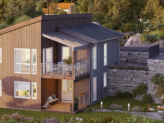 Bilde av boligmodellen Aragona